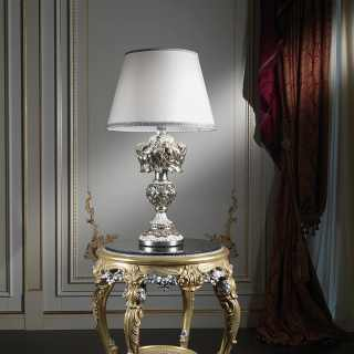 Carved Italian baroque lamp