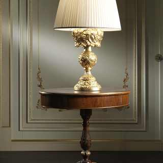 Carved luxury baroque lamp