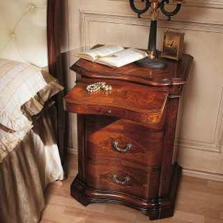 700 lombardo collection, walnut night table, classic luxury furniture
