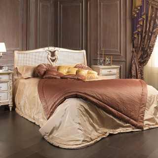 Classic bed cane headboard Luigi XVI style