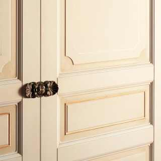 Classic modular wardrobe, handmade in Italy. Detail