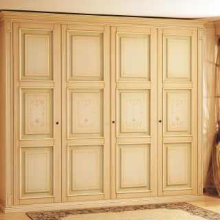 Classic modular wardrobe Oxford with carved pillars