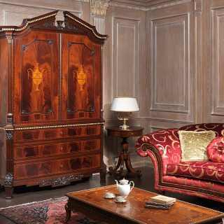 Neoclassic mahogany bureau