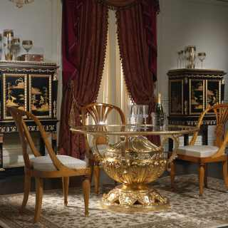 Classic dining room made in Italy in crystal
