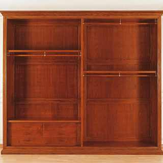 Walnut wardorbe, two sliding doors with marquetry: detail of the interiors. 800 francese classic luxury furniture collection