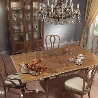 Classic dining room Luigi XV style, Parigi collection