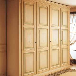 Classic style modular wardrobe Oxford collection with carved pillars