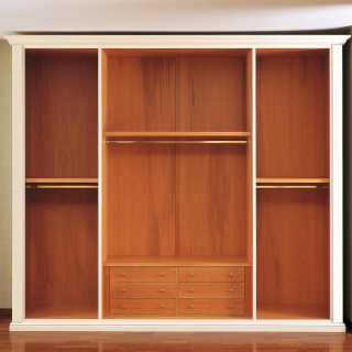 Classic wardrobe Oxford collection with wooden interiors