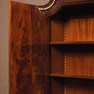 Neoclassic mahogany bureau, detail