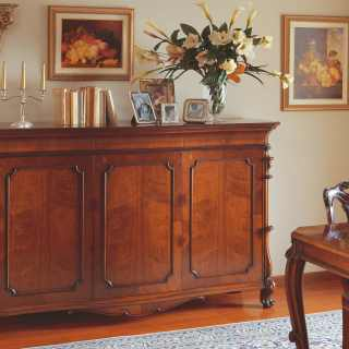 Classic walnut sideboard 700 siciliano style