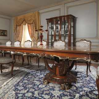 Charming Carved Table And Glass Showcase In Louis XV Style