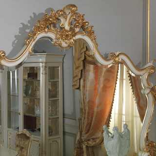 Carved mirror Luigi XV style, Venezia classic furniture collection