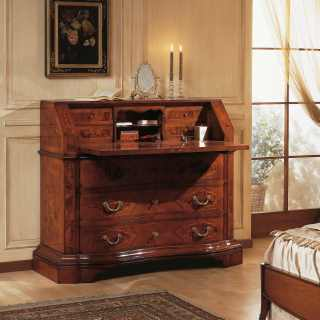 Luxury classic trumeau, walnut wood, antique finish, 700 lombardo collection