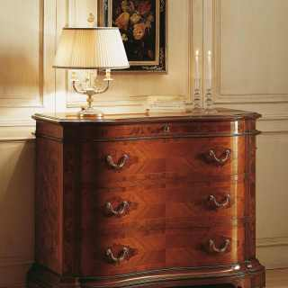 Walnut classic chest of drawers, 700 lombardo collection of luxury furniture