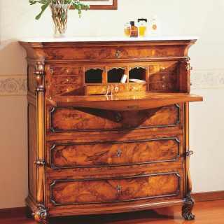 Classic walnut trumeau 700 siciliano style