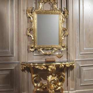 Luxury console with mirror