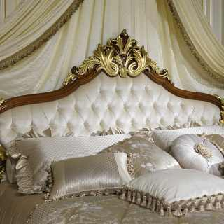 Classic elegant bed Louis XV of France