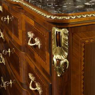 The classic elegant chest of drawers collection Louis XV France