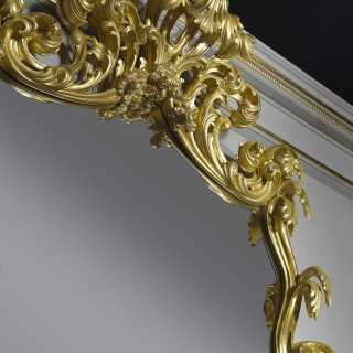 Baroque style console with a mirror