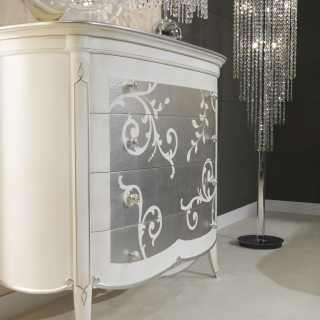 Decò style chest of drawers, made in Italy, artisan production