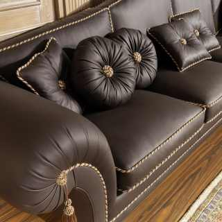 Luxury sofa in leather