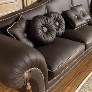 Luxury sofa in leather