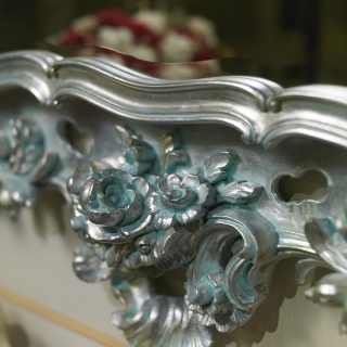 Carved console in baroque style