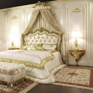 Classic bed baroque style