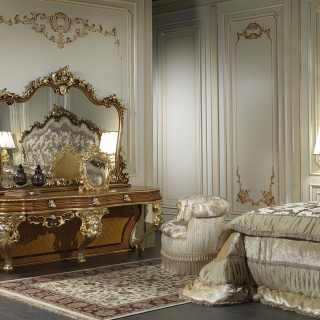 Classic mirror for bedroom baroque style