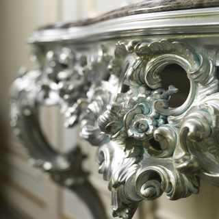 Carved baroque Italian console