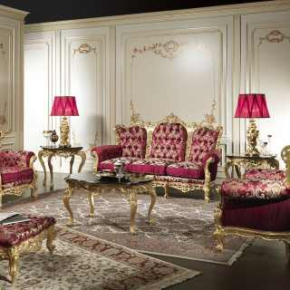 Baroque classic living room of Italian craftsmanship production