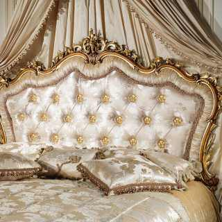 Baroque upholstered classic bed