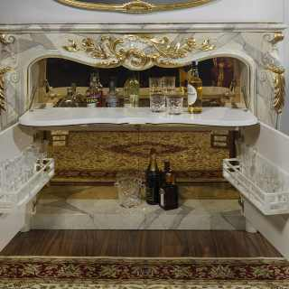 Fireplace with bar style baroque