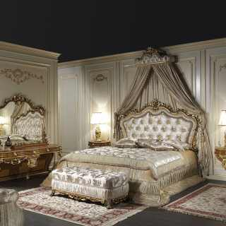 Classic double bed, bedroom Barocco art. 2013