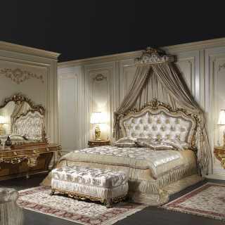 Classic double bed, bedroom Barocco art. 2013