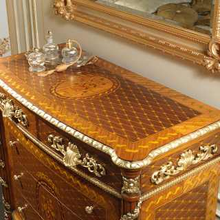 Classic inlaid chest of drawers of the Louis XVI collection Noce e Intarsi
