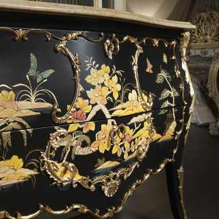 Chest of drawers Luigi XV chinese style, chinoiserie collection