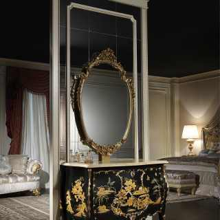 Luxury chest of drawers Luigi XV inspired to the chinese lacquered furnishings