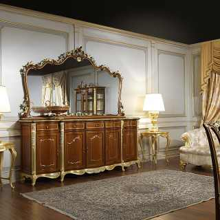 The classic cupboard dining room in Louis XV style