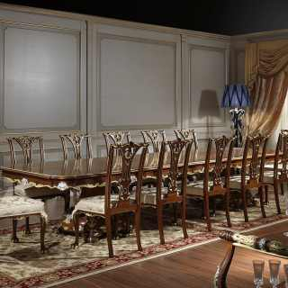 The luxury meeting table in the classic style