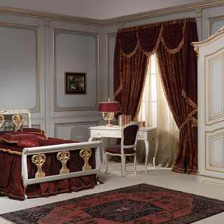 Camera da letto classica Rubens in stile 700 francese