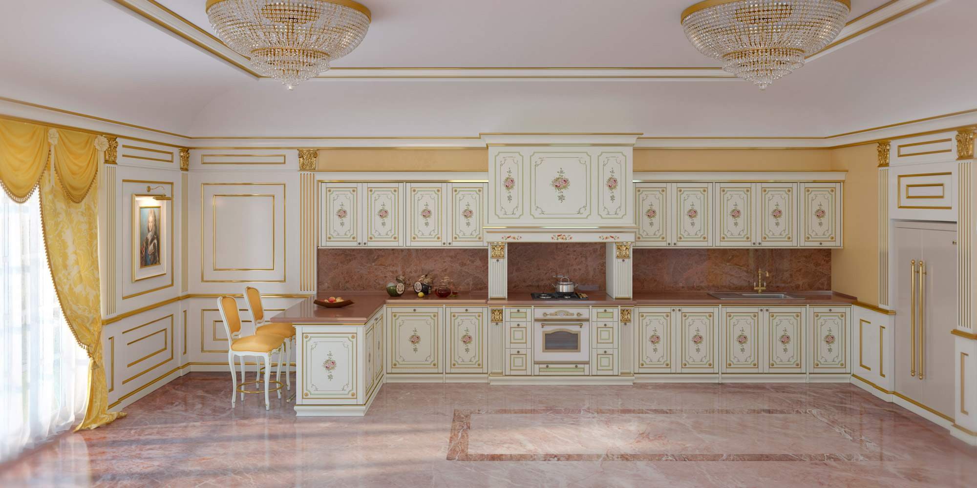Classic tailored kitchen made in Italy