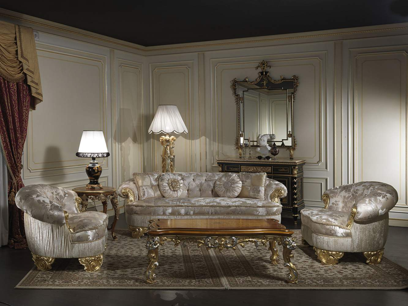 Classic upholstered sofas collection Paris