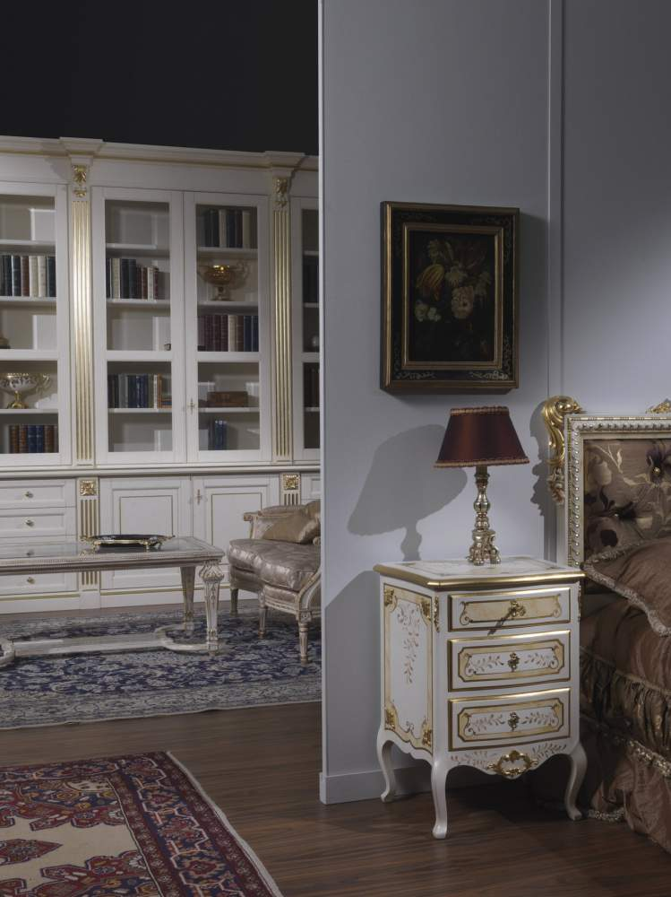 Bedside table and classic living room