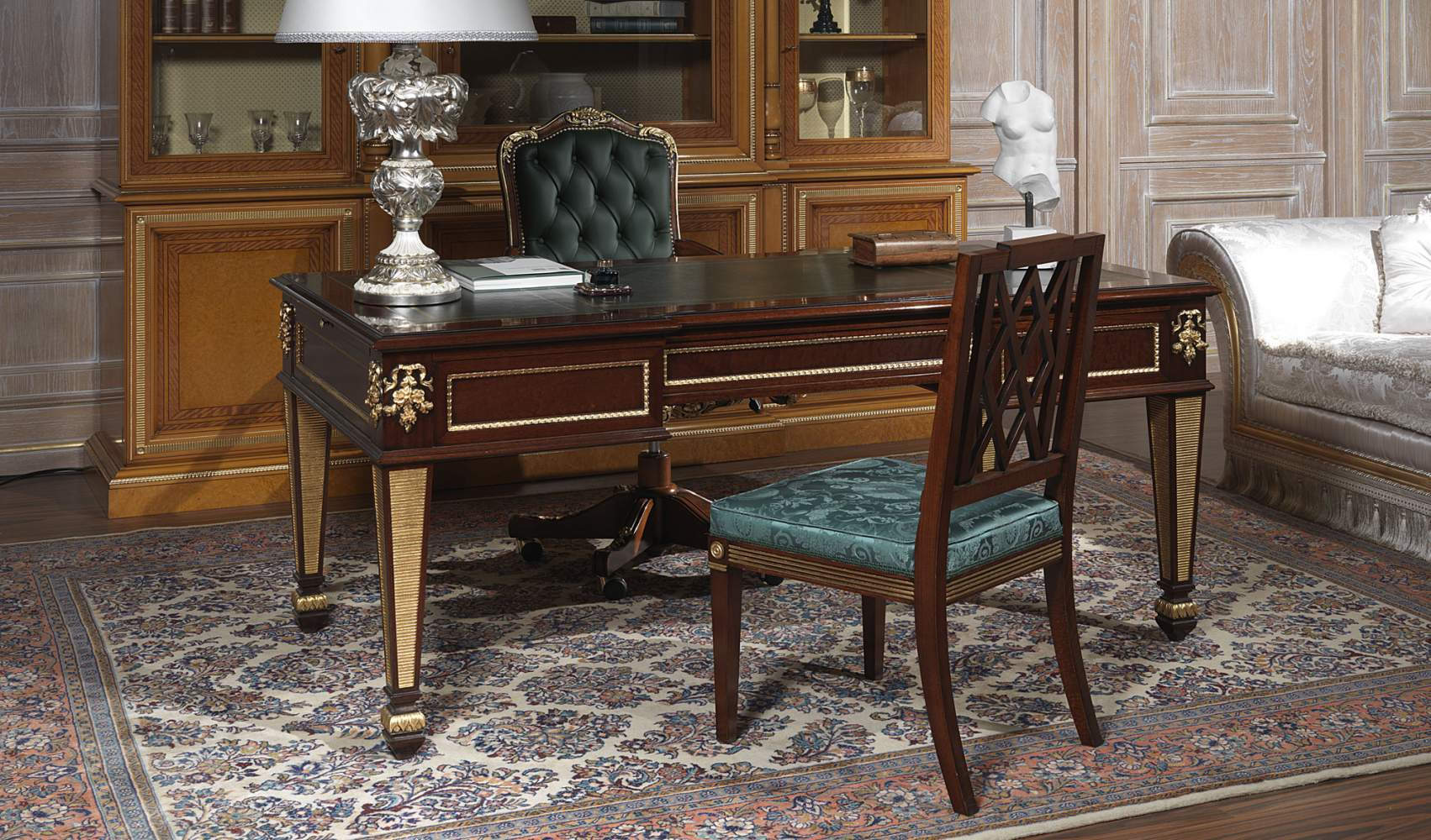 Writing table for classic office model Ermitage