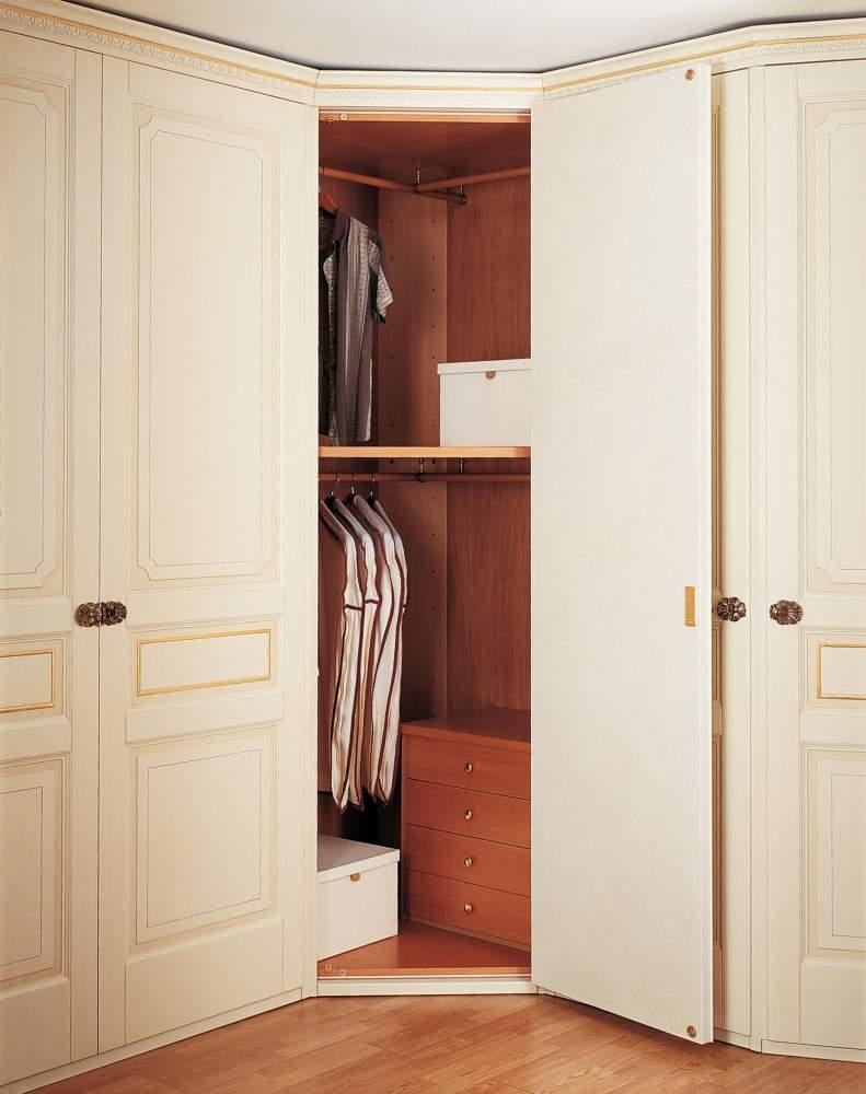 Classic wardrobe with corner