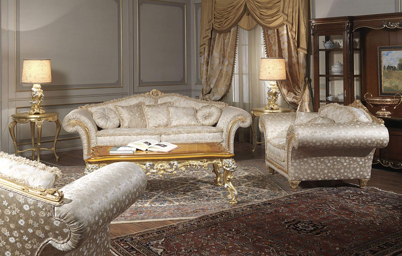 Classic sofa and armchairs Imperial