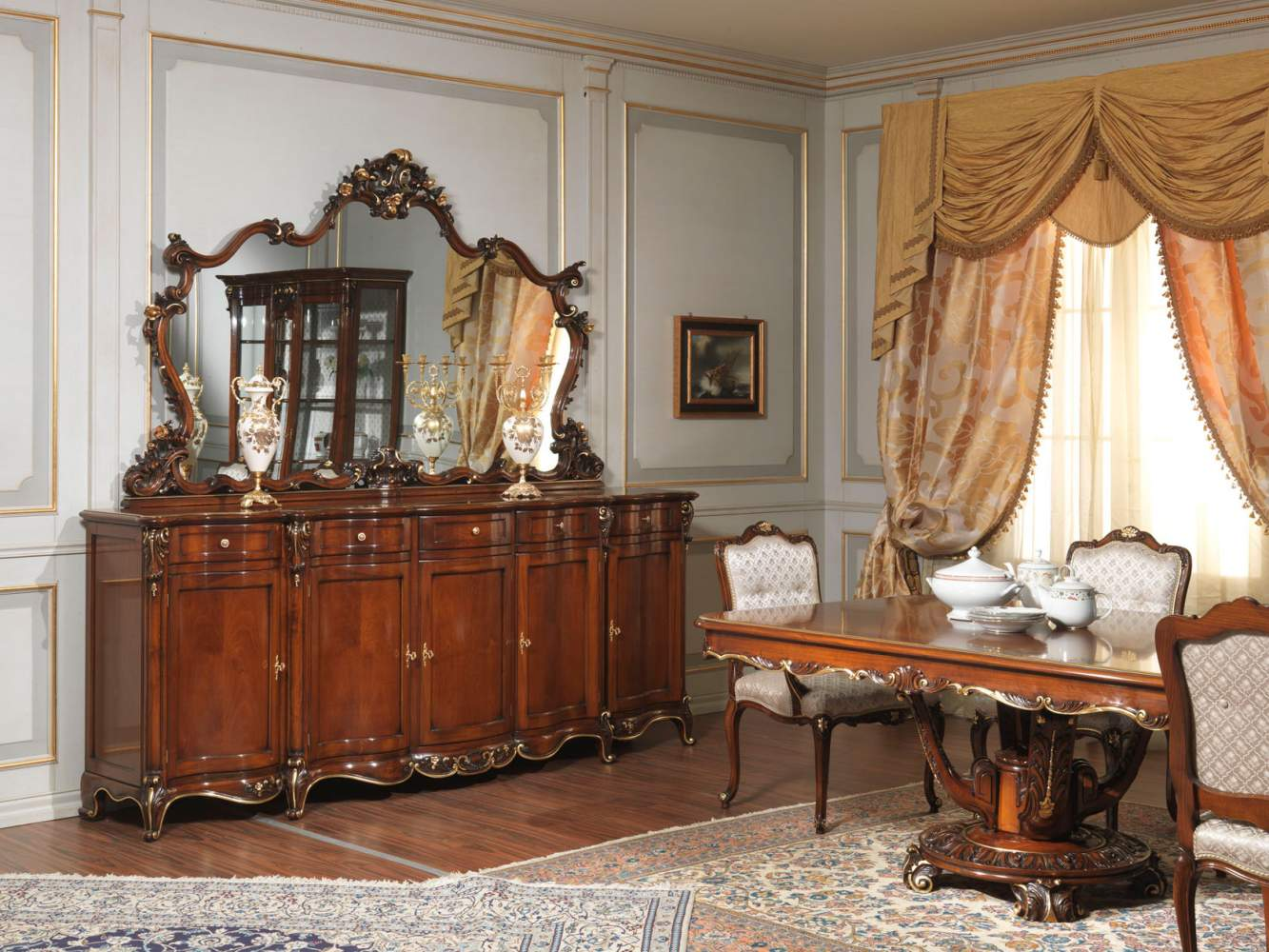 Sideboard and table Paris in Louis XV style
