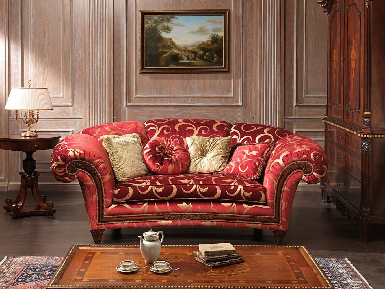 Classic sofa Palace and table