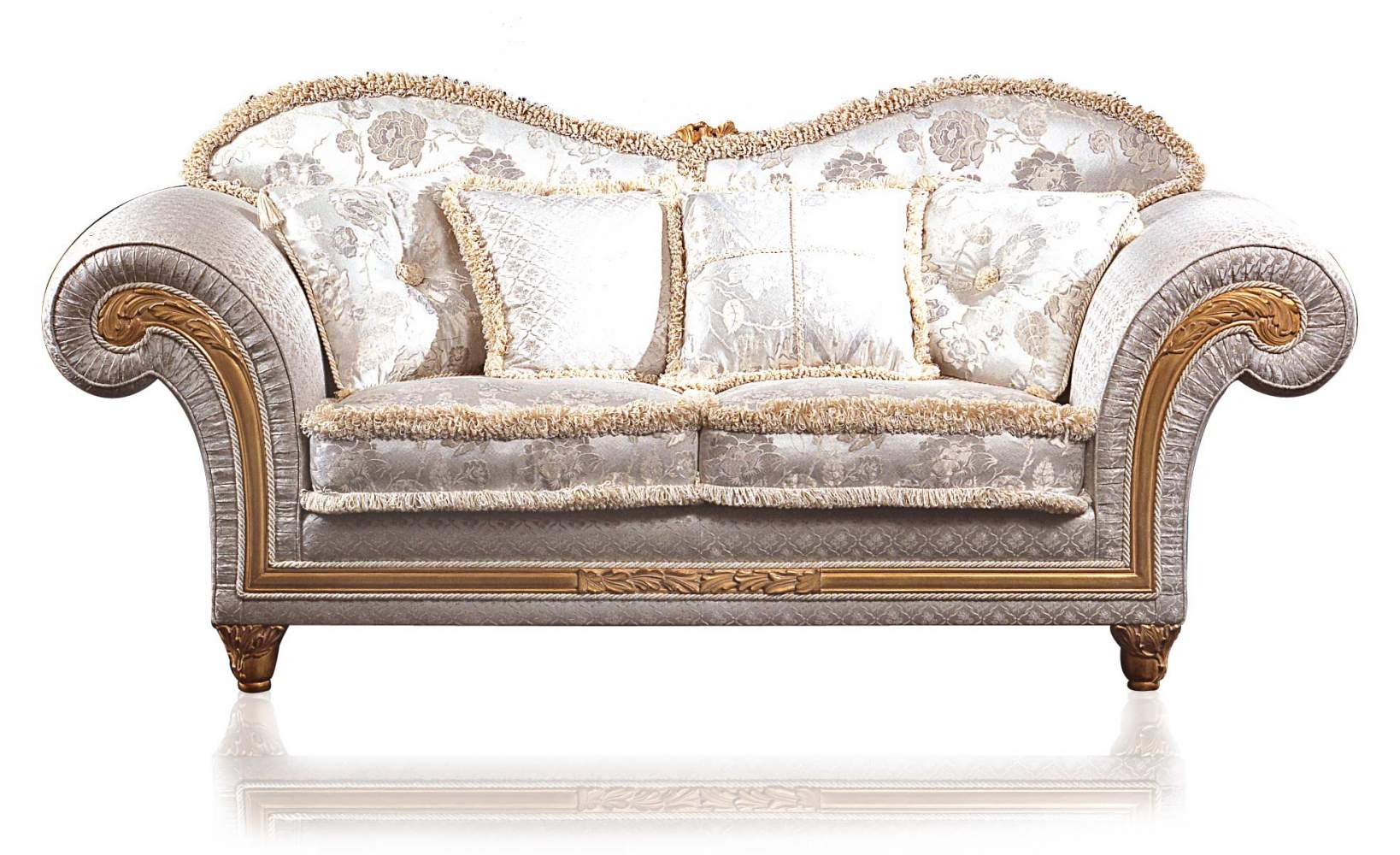 Classic sofa Excelsior, floral ivoy fabric
